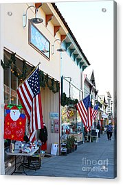 Historic Niles District In California Near Fremont . Main Street . Niles Boulevard . 7d10693 Acrylic Print by Wingsdomain Art and Photography