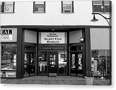 Historic Niles District In California Near Fremont . Niles Essanay Silent Film Museum . 7d10683 Bw Acrylic Print by Wingsdomain Art and Photography
