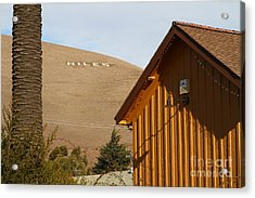 Historic Niles District In California Near Fremont . Niles Letters On Hill From Niles Town Plaza Acrylic Print by Wingsdomain Art and Photography