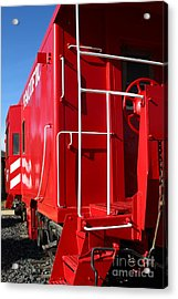 Historic Niles District In California Near Fremont . Western Pacific Caboose Train . 7d10622 Acrylic Print by Wingsdomain Art and Photography