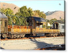 Historic Niles Trains In California . Old Niles Canyon Train . 7d10840 Acrylic Print by Wingsdomain Art and Photography
