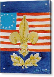 Historic Symbols Acrylic Print by Joan Landry