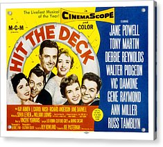 Hit The Deck, Ann Miller, Tony Martin Acrylic Print by Everett