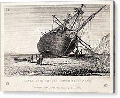 Hms Beagle Ship Laid Up Darwin's Voyage Acrylic Print by Paul D Stewart