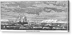 Hms Challenger, 1874 Acrylic Print by Granger