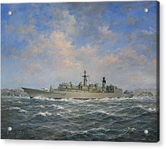 H.m.s. Chatham Type 22 - Batch 3 Acrylic Print by Richard Willis