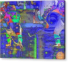 Hockey Abstract Acrylic Print by Rod Seeley