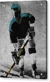Hockey Dude Acrylic Print by Kenneth Drylie