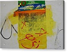 Hockey Glyphs  Acrylic Print by Cliff Spohn