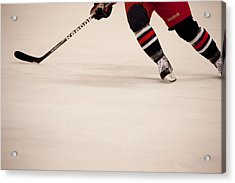Hockey Stride Acrylic Print by Karol Livote