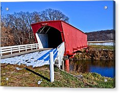 Hogback Covered Bridge Acrylic Print by Julio n Brenda JnB