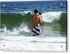 Acrylic Print featuring the photograph Holding On To Uncle Ryan by Maureen E Ritter