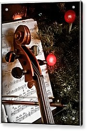 Albuquerque, New Mexico - Holiday Cello Acrylic Print