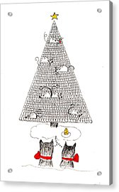 Acrylic Print featuring the drawing Holiday Wishes Do Come True by Lou Belcher