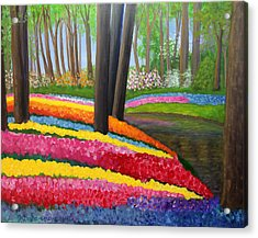 Acrylic Print featuring the painting Holland Gardens by Janet Greer Sammons