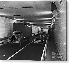 Holland Tunnel, Nyc Acrylic Print by Photo Researchers