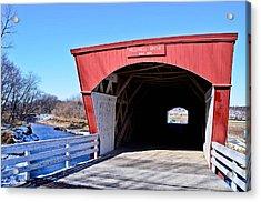 Holliwell Covered Bridge Acrylic Print by Julio n Brenda JnB