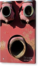 Hollow Face Acrylic Print by Luke Moore