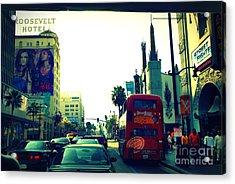 Hollywood Boulevard In La Acrylic Print by Susanne Van Hulst