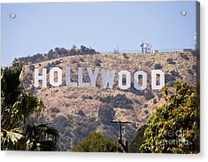 Hollywood Sign Photo Acrylic Print by Paul Velgos