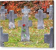 Holocaust Memorial Cross Acrylic Print