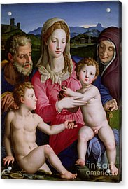 Holy Family With St Anne And The Infant St John The Baptist Acrylic Print