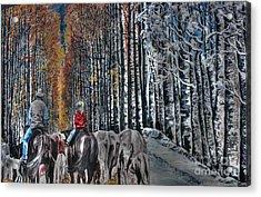 Home Before Dark Acrylic Print by David Bearden