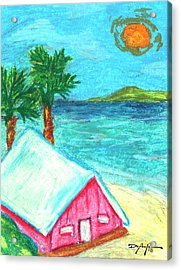 Home By Shore Acrylic Print by William Depaula