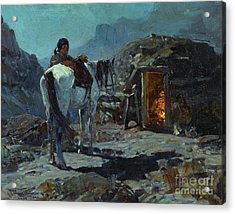 Home Of The Navajo Acrylic Print by Pg Reproductions