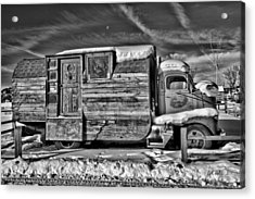 Home On Wheels - Bw Acrylic Print by Christopher Holmes