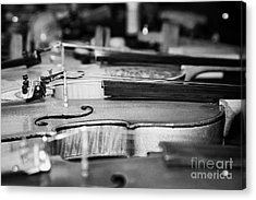 Homemade Handmade Violins Made Of Different Materials And Shape Acrylic Print by Joe Fox