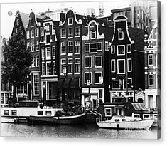 Homes Of Amsterdam Acrylic Print by Leslie Leda