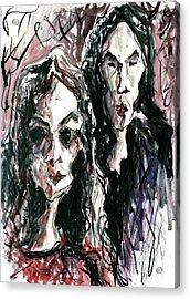 Homoline #36. Two Figures Acrylic Print