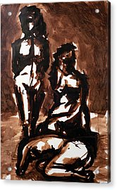 Homotrace #27. Three Figures Acrylic Print