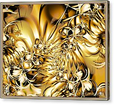 Acrylic Print featuring the digital art Honeysuckle Gold by Michelle H