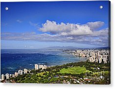 Honolulu From Diamond Head Acrylic Print