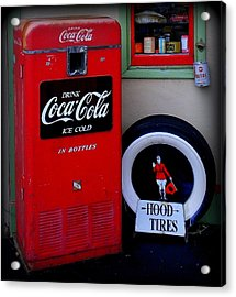 Hood Tires Cocacola Acrylic Print by Randall Weidner