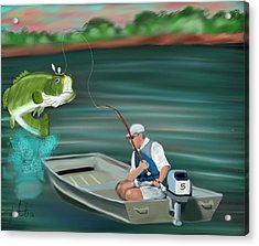 Hooked A Keeper Acrylic Print by Tyler Martin