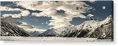 Hooker River In The Valley At Tasman Acrylic Print by Colin Monteath