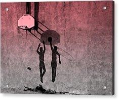 Acrylic Print featuring the photograph Hoop Boys by Clarice  Lakota