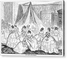 Hoopskirts, 1858 Acrylic Print by Granger