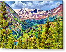 Acrylic Print featuring the digital art Hoosier Pass by Brian Davis