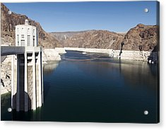 Hoover Dam Acrylic Print by Gloria & Richard Maschmeyer