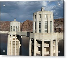Hoover Dam Acrylic Print by Michelle Wolff