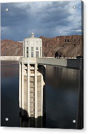 Hoover Dam Single Tower Acrylic Print