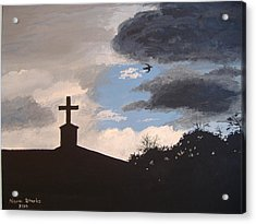 Acrylic Print featuring the painting Hope In The Storm by Norm Starks