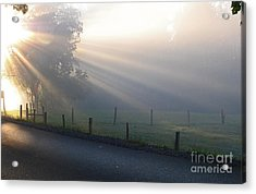 Hope Is In His Light Acrylic Print