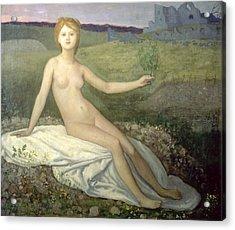 Hope Acrylic Print by Pierre Puvis de Chavannes