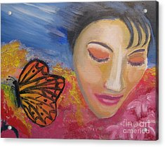 Acrylic Print featuring the painting Hopeful by Diana Riukas