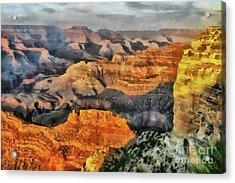 Hopi Point - Grand Canyon Sunset Acrylic Print